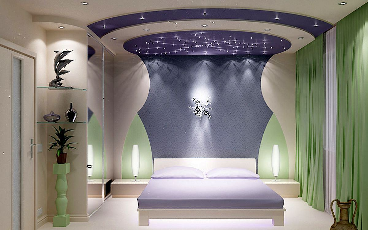 USA design of bedroom- photo №1