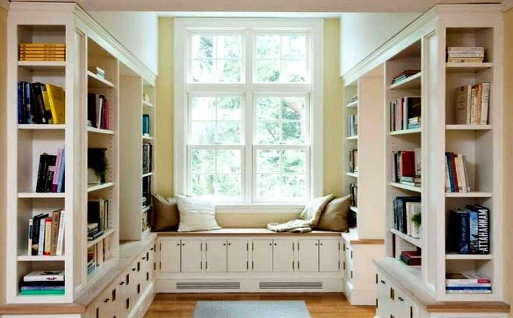 Modern USA design of home mini library- photo №1