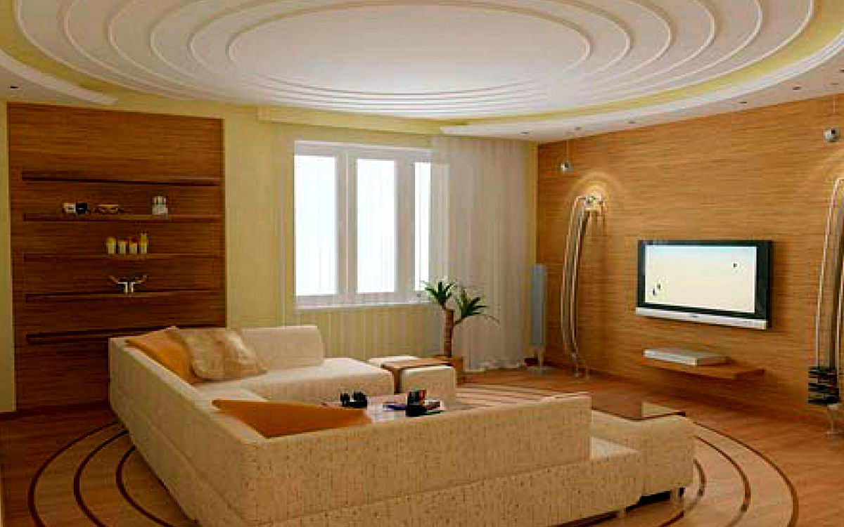 Modern European design of small living room on picture 1