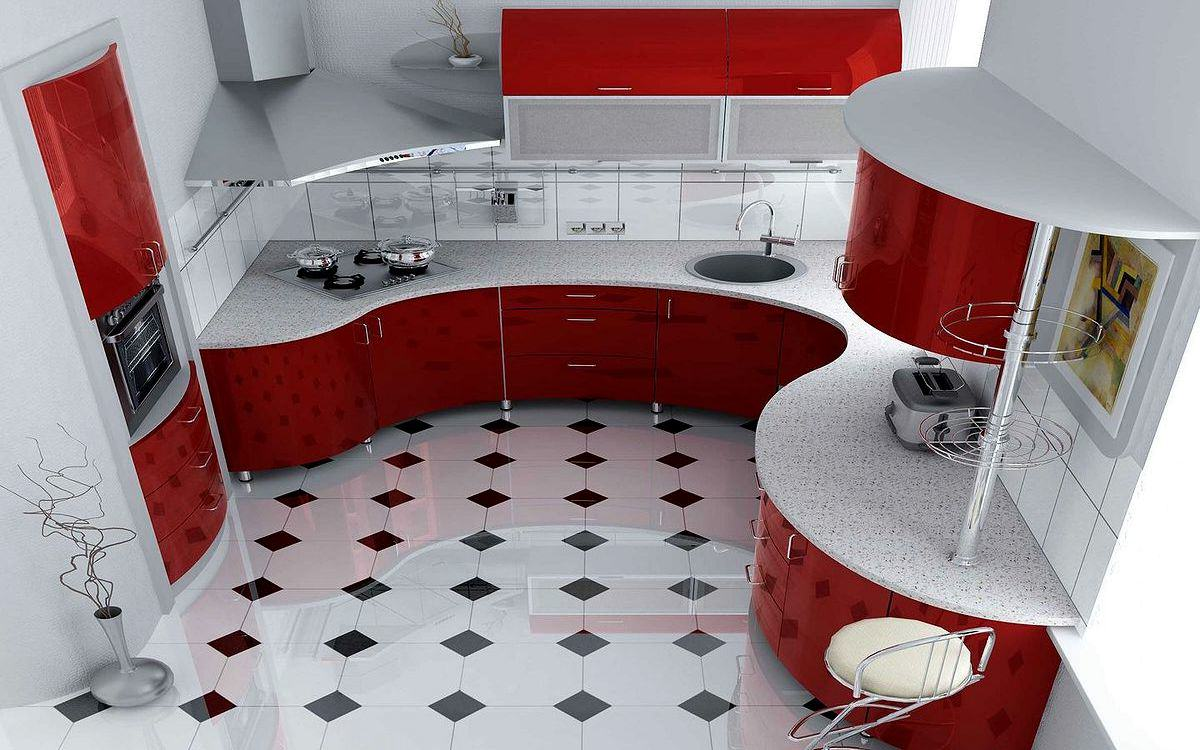 photo №1 of small kitchen design
