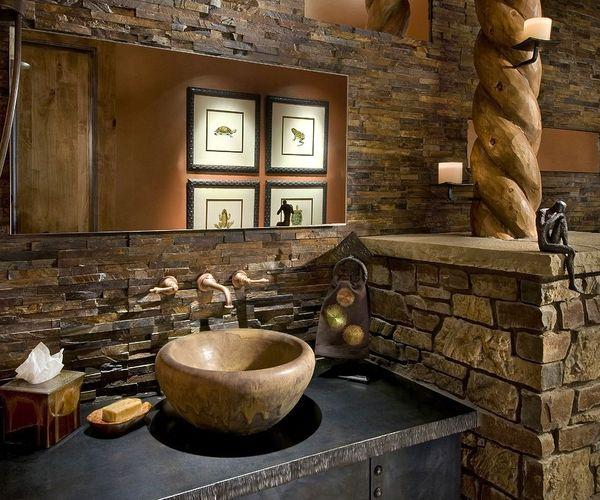 The beauty of natural stone in rustic bathroom