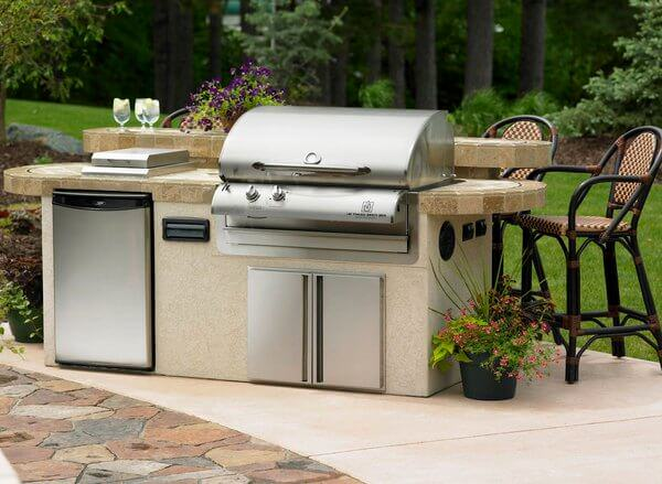 separated open-air outdoor kitchen