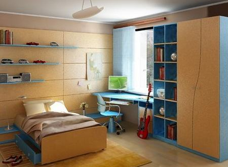 Basic requirements for a teenager's bedroom in the US