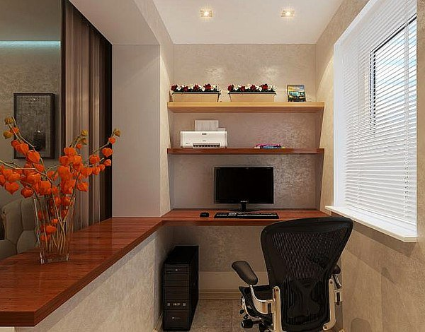 design concept of the balcony office zone