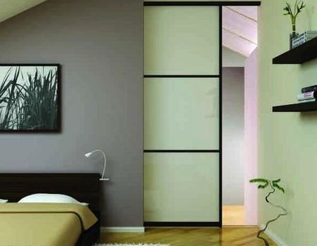 Sliding door in a small US bedroom