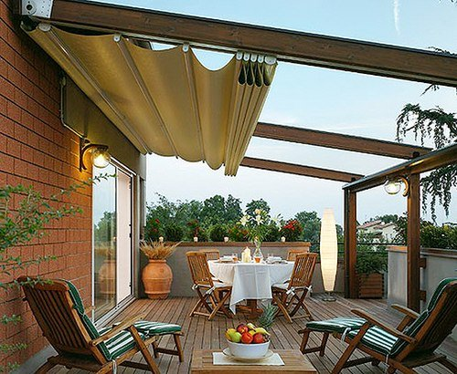 canopy above a terrace in usa
