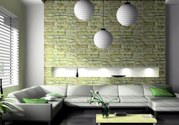 Yellow color in the living room interior-USA 2020