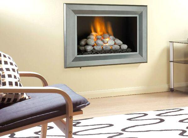 Electric fireplace in US apartments