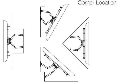 Mounts and brackets for on-wall TV installation
