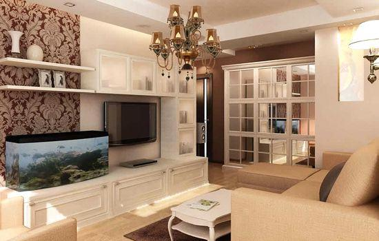 Shades of coffee and milk in Living room Design idea