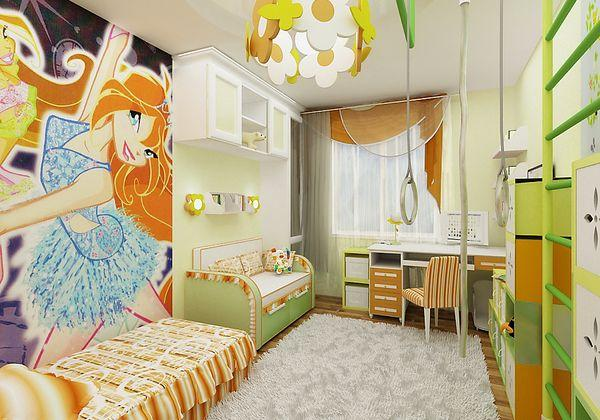 Colors in Small Kids Room